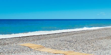 Stranden ved Giannoulis Cavo Spada Deluxe & Spa på Kreta, Grækenland.