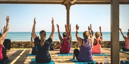 Yoga på Giannoulis Cavo Spada Deluxe & Spa på Kreta, Grækenland.