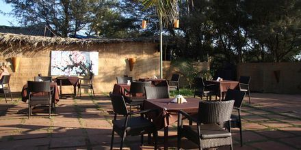 Restaurant på Hotel Chalston Beach Resort i Goa i Indien.