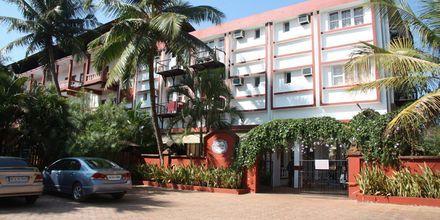 Indgang til Hotel Chalston Beach Resort i Goa i Indien.