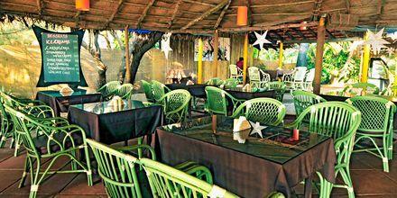 Strandrestaurant på Hotel Chalston Beach Resort i Goa i Indien.