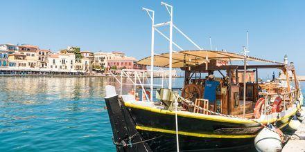 Smukke både i Chania by på Kreta, Grækenland.