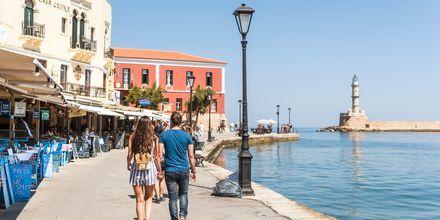 Havnen i Chania by på Kreta, Grækenland.