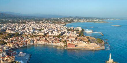 Chania by på Kreta, Grækenland.