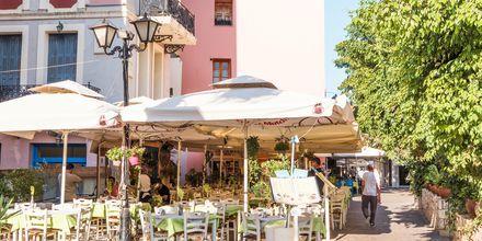 Restauranter i Chania by på Kreta, Grækenland.