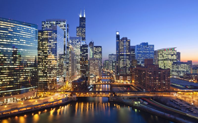 Chicago by night!