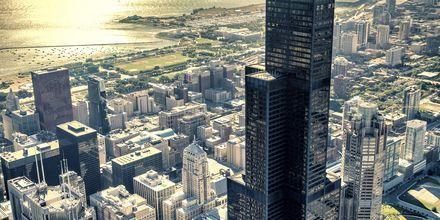 Udsigt over Chicagos skyskrabere.