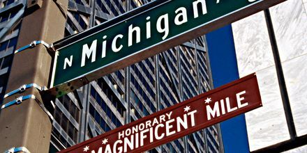 The Magnificient Mile udlover shopping for enhver smag, Chicago, USA.