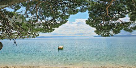Stranden ved Hotel City Beach i Makarska, Kroatien.