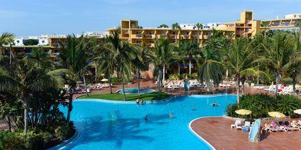 Poolområdet på Hotel Club Drago Park på Fuerteventura, De Kanariske Øer, Spanien.
