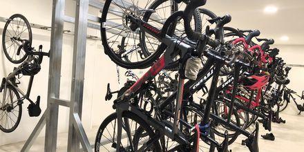 Cykeludlejning på hotel Condesa, Mallorca.