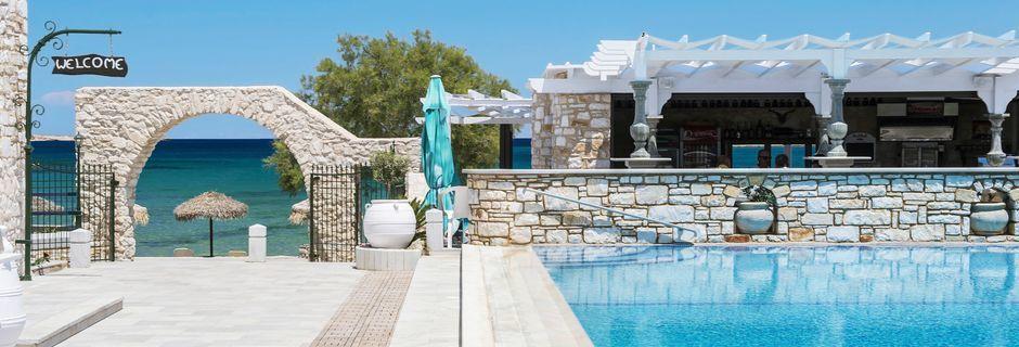 Hotel Contaratos Beach på Paros i Grækenland.