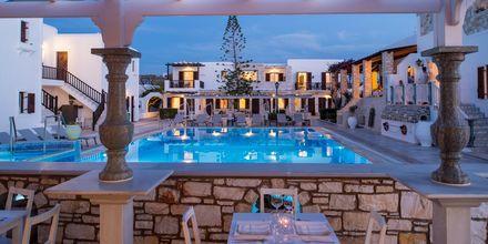 Restaurant på Hotel Contaratos Beach på Paros i Grækenland.