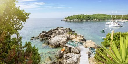 Stranden ved Costa Smeralda, Sivota i Grækenland.