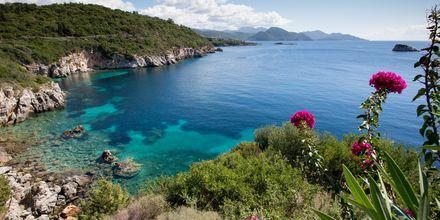 Udsigt fra Hotel Costa Smeralda i Sivota, Grækenland