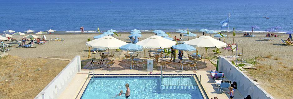Poolen på hotel Costas & Christina i Platanias på Kreta, Grækenland.
