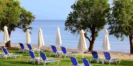 Stranden ved Hotel Creta Princess Aquapark & Spa på Kreta, Grækenland.
