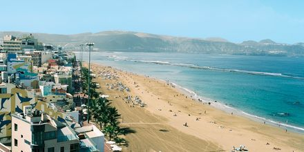 Stranden ved Hotel Cristina Las Palmas på Gran Canaria.