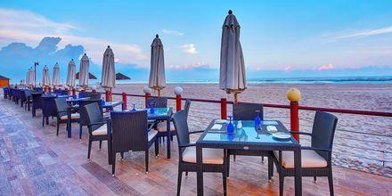 Restaurant Dolphine Beach på Hotel Crowne Plaza Resort i Salalah, Oman.