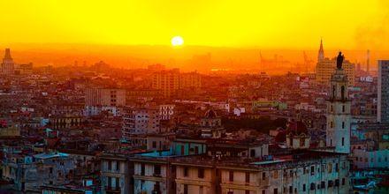 Solnedgang over Havanna, Cuba.