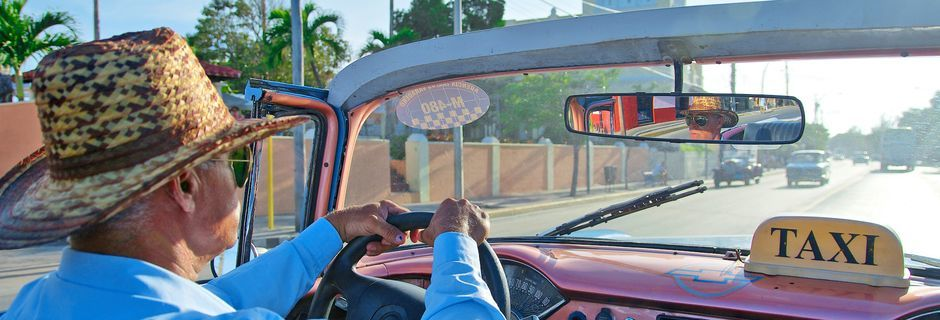 Taxi i Havanna, Cuba.