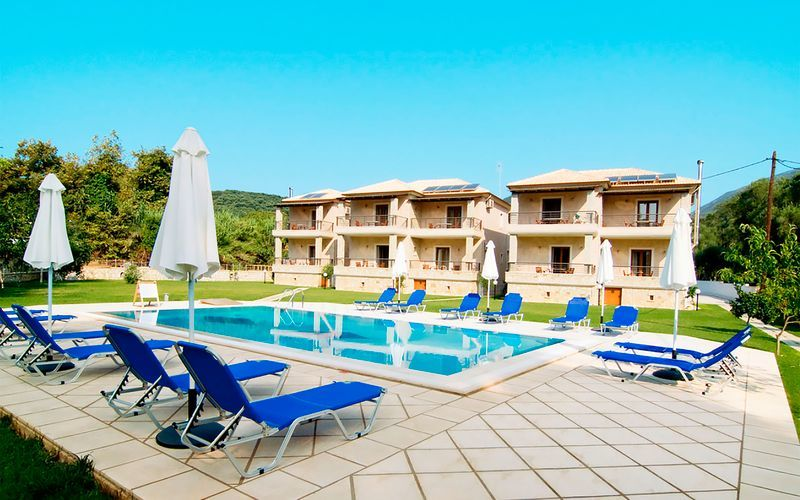 Hotel Dalouda i Parga, Grækenland.