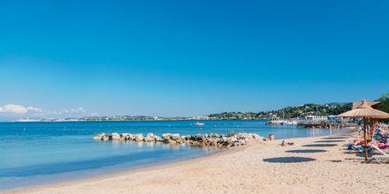 Kontokali-stranden på Korfu i Grækenland.