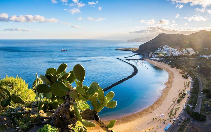 Sandstrand på Tenerife, De Kanariske Øer.