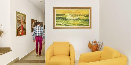 Lobby på Hotel Delfini i Saranda i Albanien.