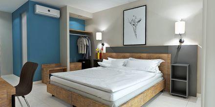 Skitsetegning af deluxe-værelse på Hotel Diamanta på Skiathos, Grækenland.