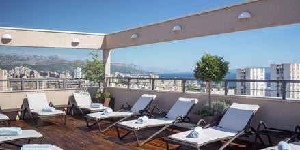 Solterrasse på Dioklecijan Hotel & Residence, Split, Kroatien.