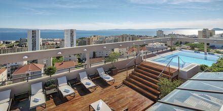 Tagterrasse på Dioklecijan Hotel & Residence, Split, Kroatien.