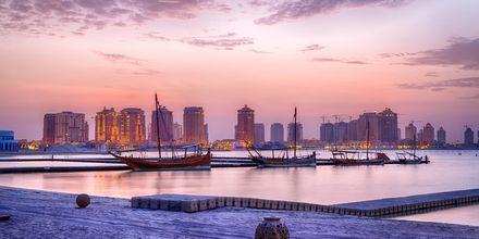 Aften i Doha, Qatar.