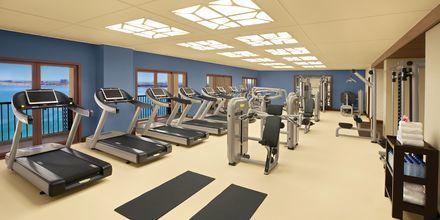 Fitness-faciliteterne på hotel Doubletree by Hilton Marjan Island i Ras al Khaimah, De Forenede Arabiske Emirater.