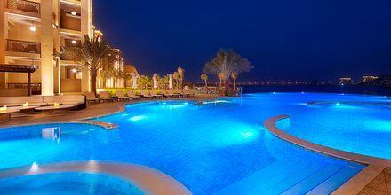 Poolområdet på hotel Doubletree by Hilton Marjan Island i Ras al Khaimah.