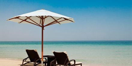 Stranden ved Hilton Dubai Jumeiraj Resort, De Forenede Arabiske Emirater.