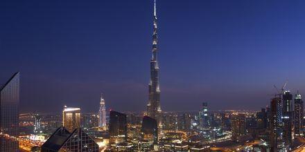 Burj Khalifa i Dubai, verdens højeste bygning, De Forenede Arabiske Emirater.