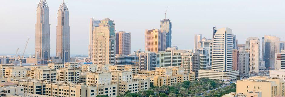Bygninger i Al Barsha-området i Dubai, De Forenede Arabiske Emirater.