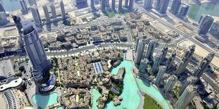 Udsigt fra Burj Khalifa i Dubai, De Forenede Arabiske Emirater.
