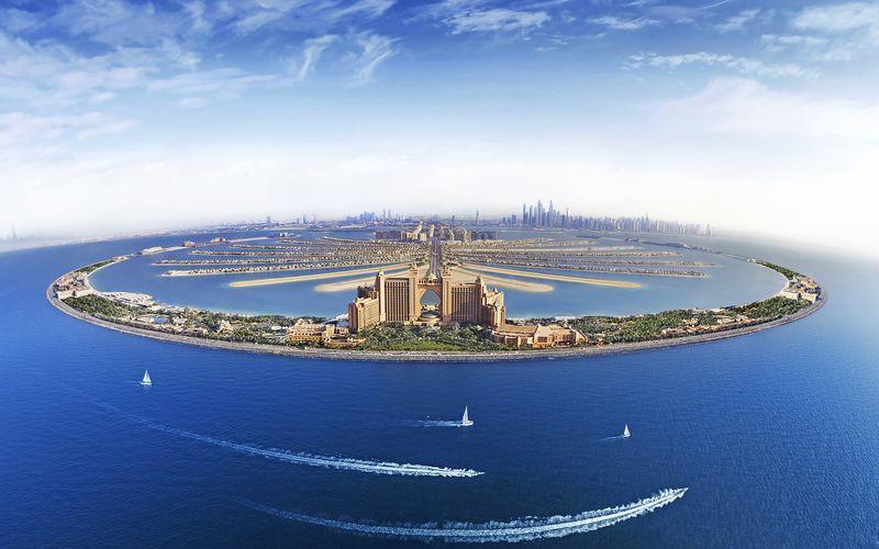 Palm Jumeirah i Dubai, De Forenede Arabiske Emirater.