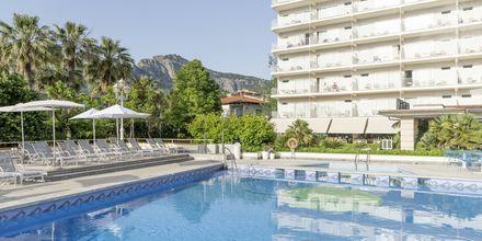 Poolområdet på Hotel Eden, Puerto de Sóller, Mallorca.
