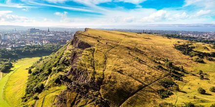 Toppen Arthur's Seat, 197 meter over havet, er et populært udsigtssted i Edinburgh.