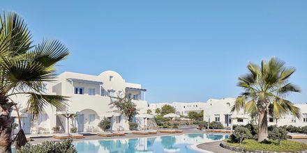 Poolområdet på hotel El Greco på Santorini, Grækenland.