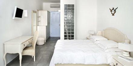 Superior-værelse på hotel El Greco på Santorini, Grækenland.