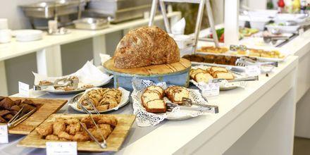 Morgenmad på Hotel Elite på Rhodos i Grækenland.