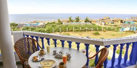 Balkon på Hotel Empire Beach Resort i Det Nordlige Goa, Indien.