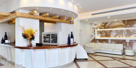 Receptionen på hotel Epsilon på Rhodos, Grækenland.