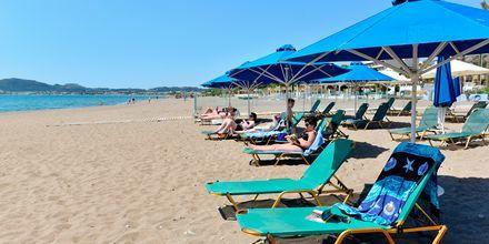 Stranden ved hotel Epsilon på Rhodos, Grækenland.