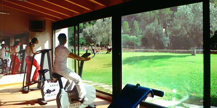 Fitness på Hotel Es Port i Puerto Soller på Mallorca, Spanien