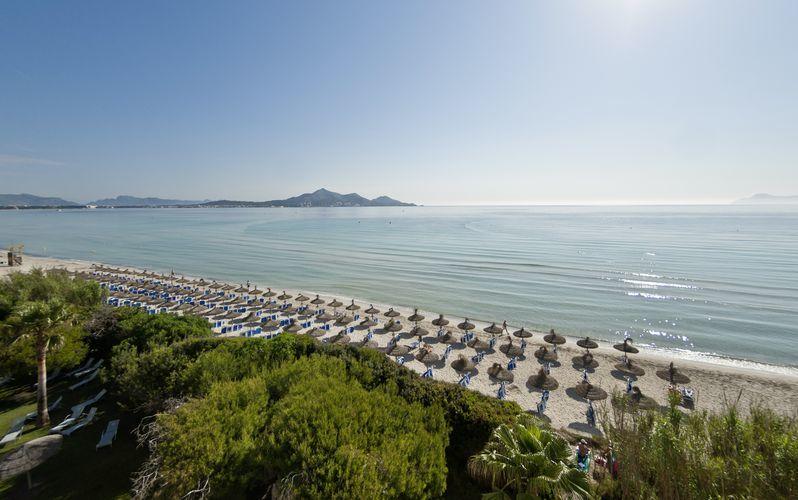 Udsigt fra Playa Esperanza Suites på Mallorca, Spanien.